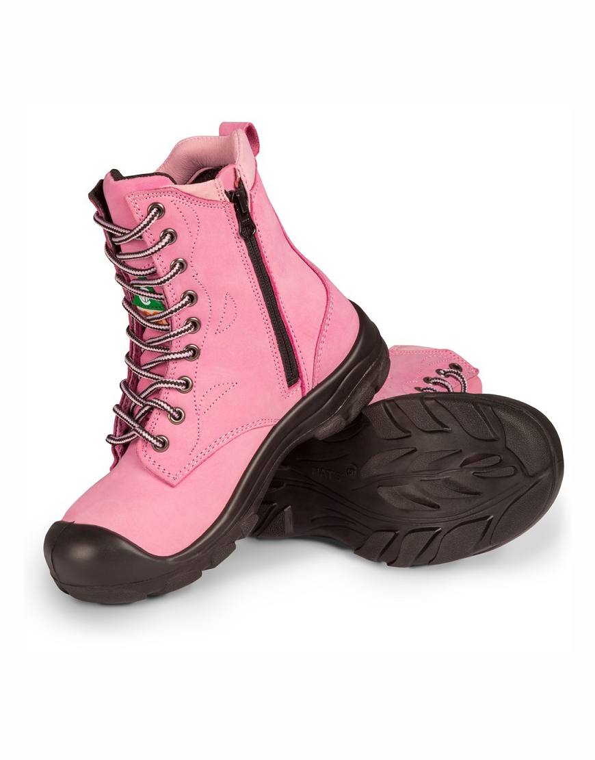 220db1de01add SAFETY BOOTS WITH A ZIPPER NATS WOMAN – PINK